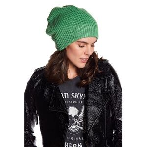 Free People Women's Green Everyday Slouchy Beanie